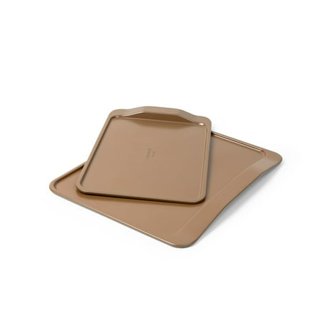 Simply Calphalon Nonstick Bakeware 2-Piece Cookie Sheet Set, Toffee