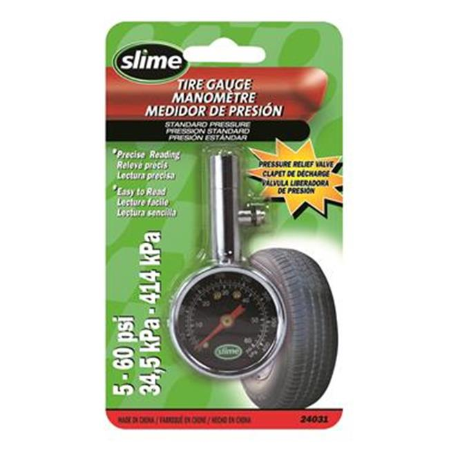 SLIME-CANADA 24031 Tire Pressure Gauge - 3.37 In.