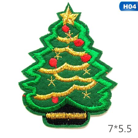 AkoaDa Christmas Style Patch For Clothing Iron On Embroidered Sew Applique Cute Patches Unicorn Badge DIY Apparel Accessories Welcome To Our Shop! Have a Good Time!