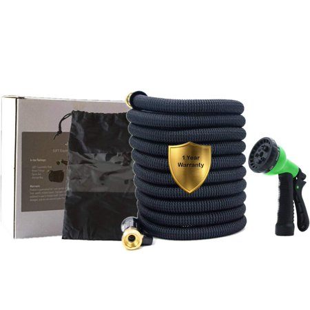 75ft Expandable Garden Hose with Double Latex Core, 3/4