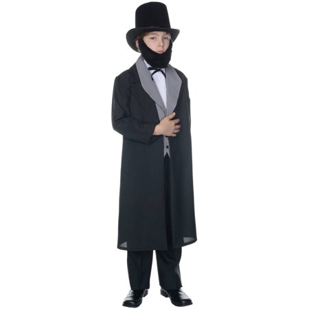Abraham Lincoln Kids Costume (Abraham Lincoln Boys Child Halloween)