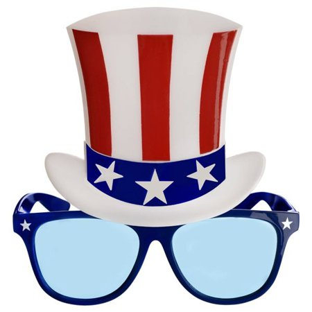 Patriotic USA Top Hat Glasses United States of America New York Yankees