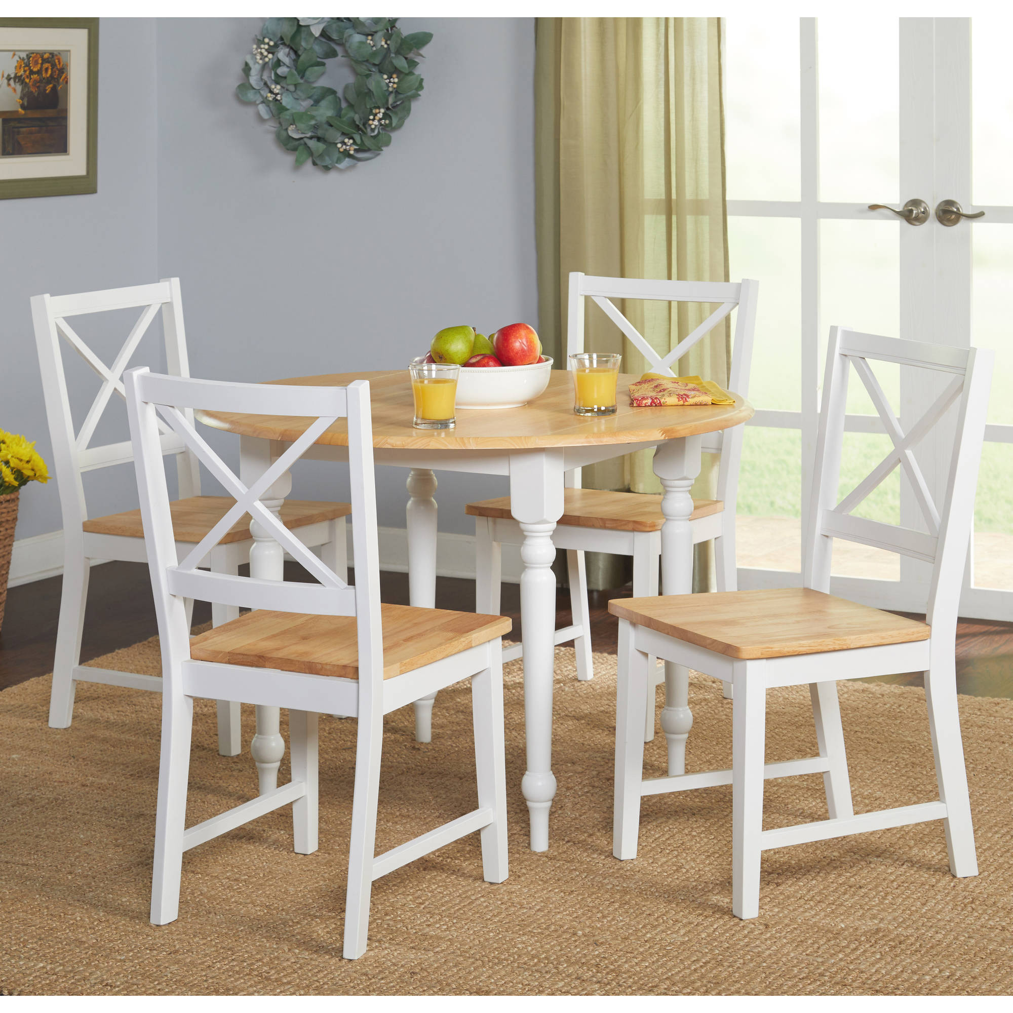Virginia 5-Piece Dining Set, Multiple Colors