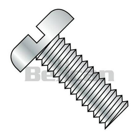 Shorpioen 1109MSP No.10-32 x 0.56 Slotted Fully Threaded Pan Machine Screw - Zinc - Box of 6000 - image 1 of 1