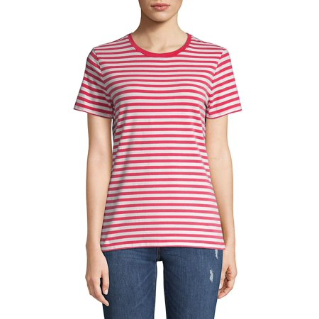 Petite Striped Short Sleeve Tee ()