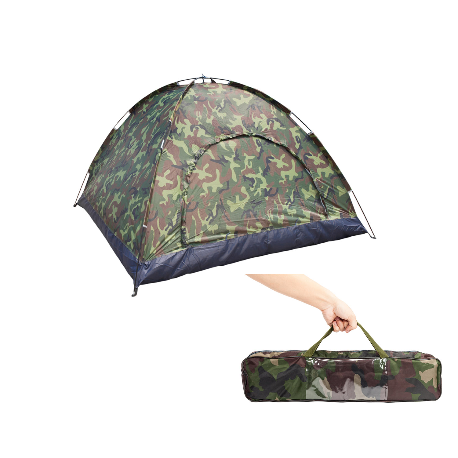 Ktaxon Family Instant Automatic Pop Up Camping Hiking 3-4 Person Tent Camo Outdoor