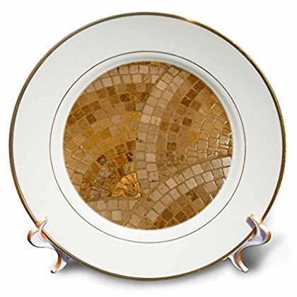 3dRose Scallop Copper Like, Porcelain Plate, 8-inch
