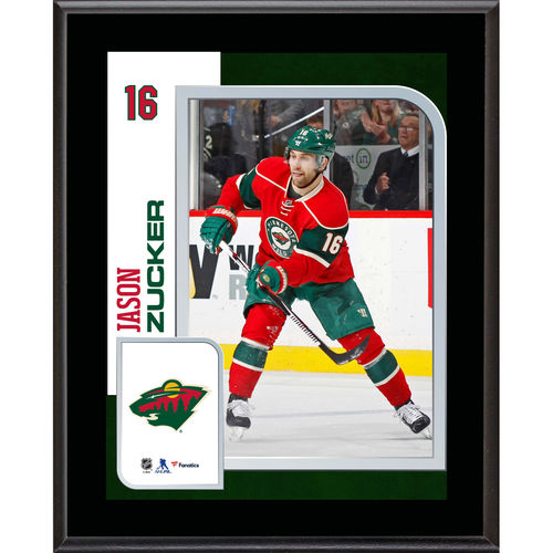 "Jason Zucker Minnesota Wild 10.5"" x 13"" Sublimated Player Plaque - No Size"