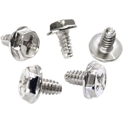StarTech Replacement PC Mounting Screws #6-32 x 1/4in Long Standoff, 50 Pack