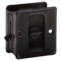 Schlage SC991B-716 Aged Bronze Artisan Sliding Door Lock
