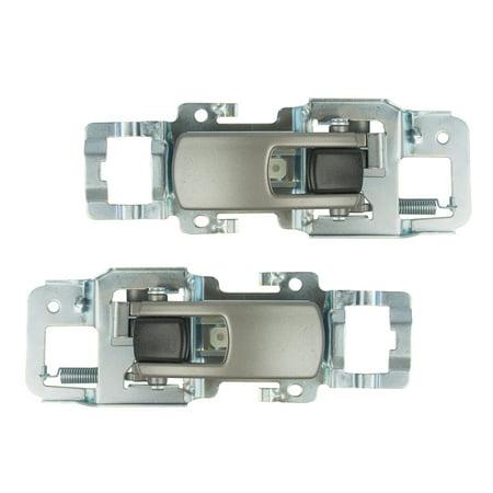 Pair Set Inside Interior Satin Door Handles Replacement for Chevrolet Equinox Pontiac Torrent 15926295 15926296