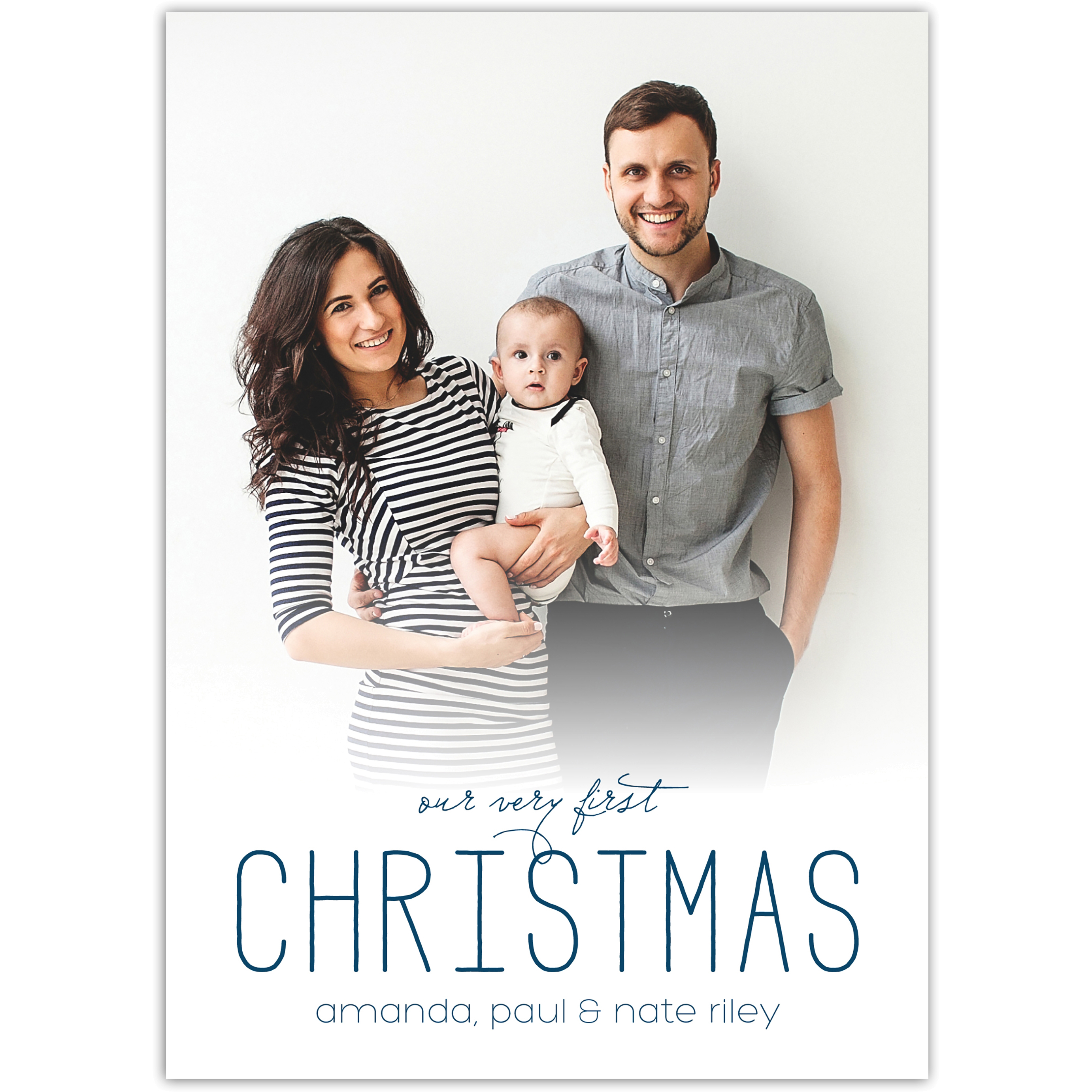 Our Very First - 5x7 Personalized Baby's First Christmas Card