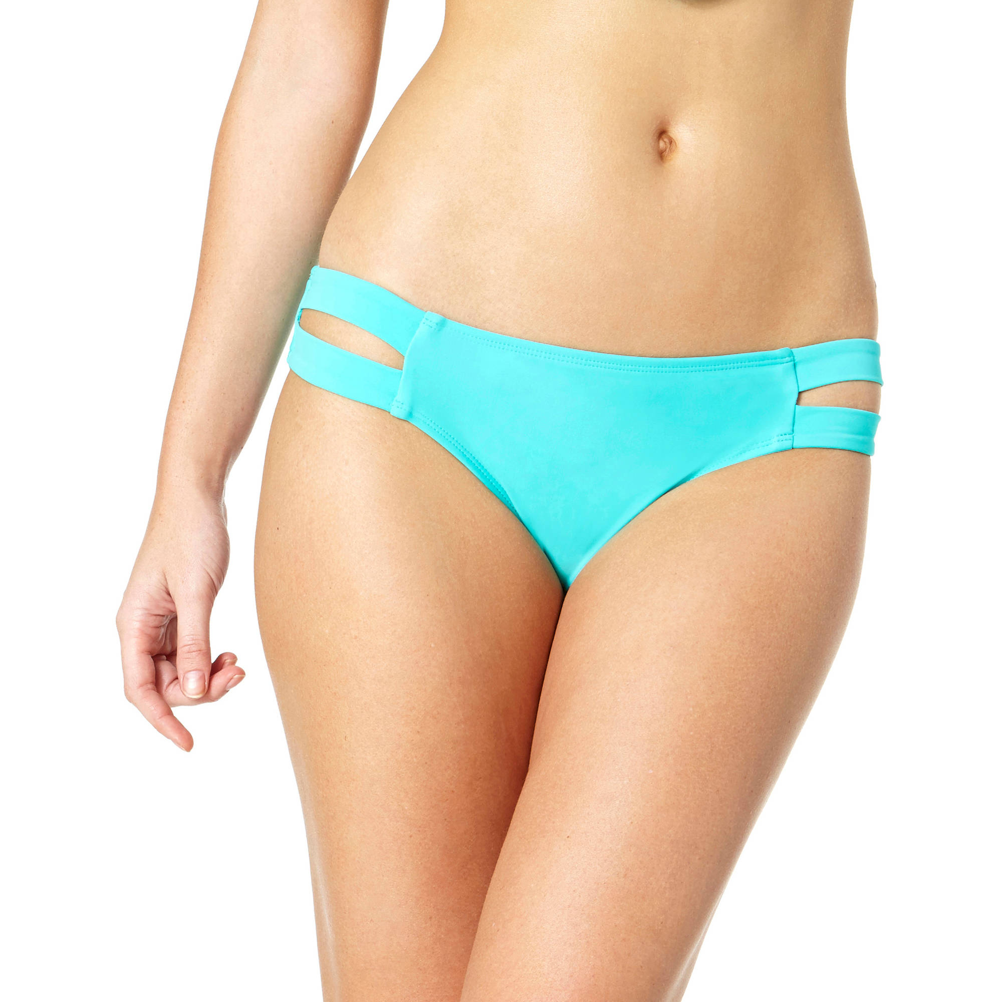 Tahiti Women's Double Tab Scoop Bikini Swimsuit Bottom