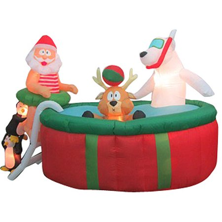 Animated airblown inflatable 5 39 tall x 7 for Home depot christmas decorations 2013