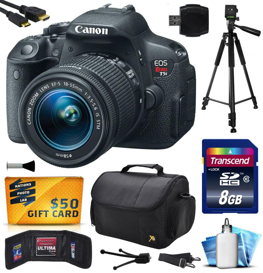 Canon EOS Rebel T5i 700D Digital Camera w/ 18-55mm Lens (...