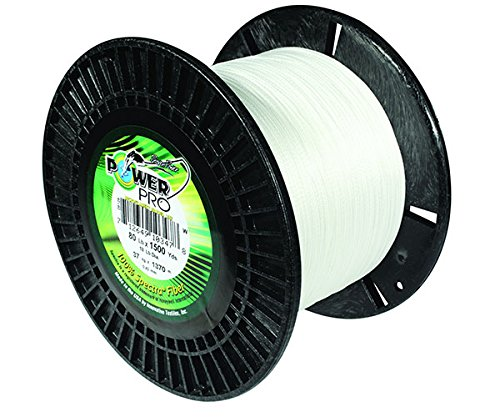 Power Pro 21100500500W Fishing Line, 50 lb 500 yd, White by Power Pro