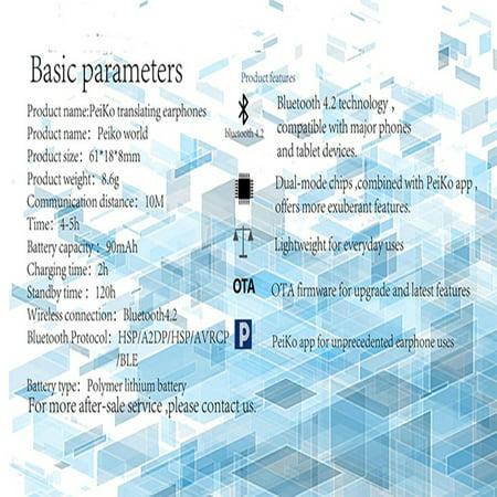 Smart Language Translator Bluetooth Wireless Earphones, Supersellers  Bluetooth Wireless Earphones, Support 25 Languages Intelligent APP Online