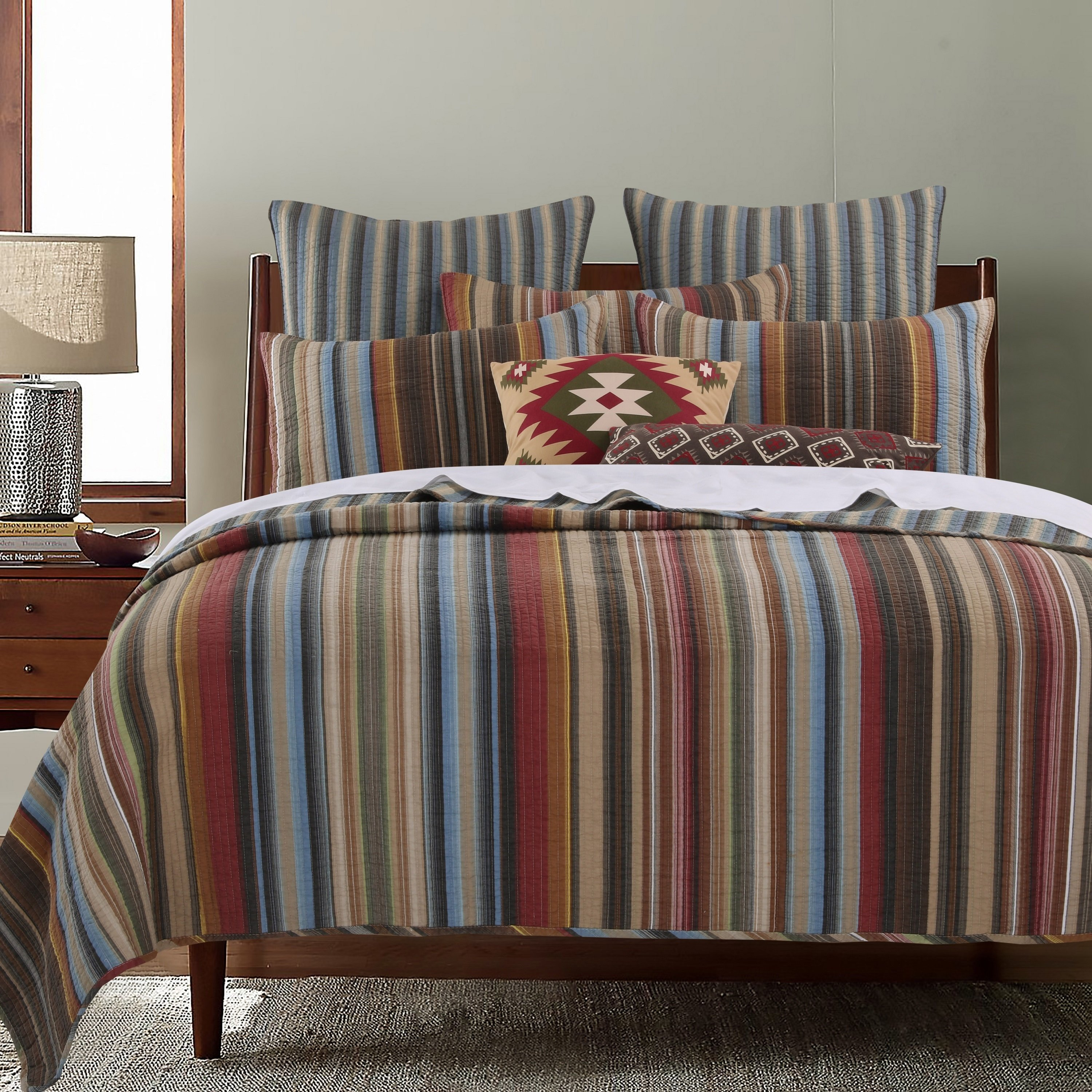 Greenland Home Fashions Durango 100-percent Cotton Quilt Set King