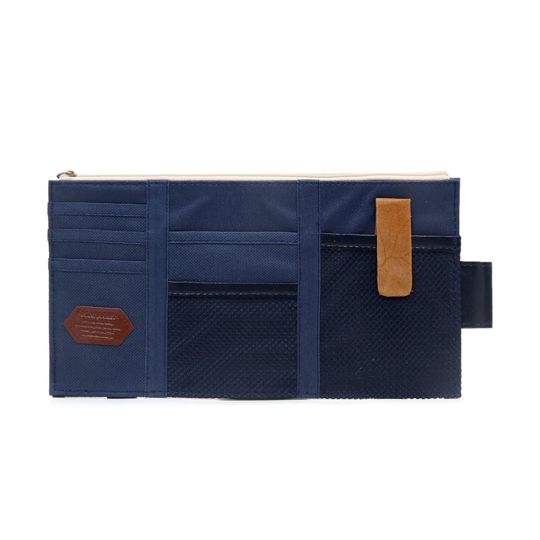 Auto Car Sun Visor Multi Pockets Organizer Storage Bag Card Holder Pouch Bag