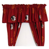 "Florida State Seminoles 100% Cotton, 63"" Curtain Panels, Set of 2"