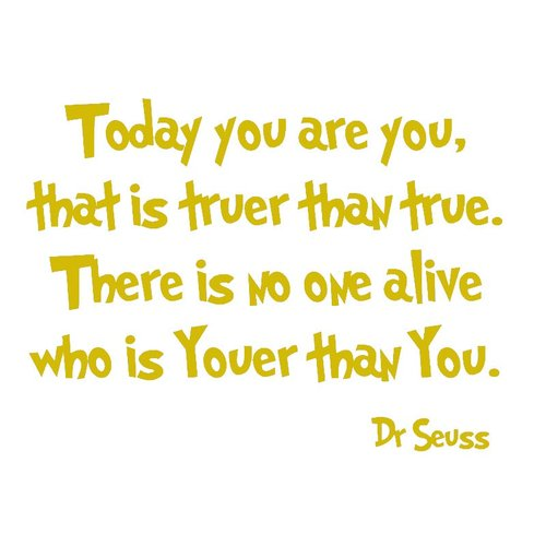VWAQ Today You Are You Dr Seuss Wall Decal
