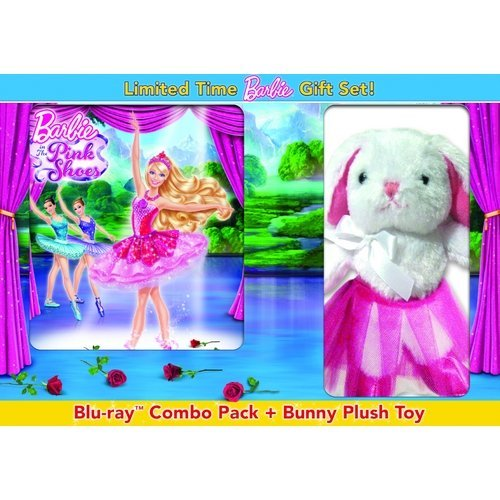 Barbie In The Pink Shoes (Blu-ray + DVD + Digital Copy + UltraViolet + Bunny Plush Toy) (With INSTAWATCH) (Widescreen)