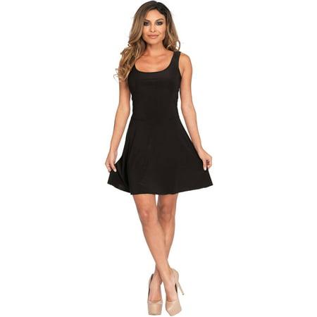 Basic Black Mini Skater Dress](Mimi Halloween)
