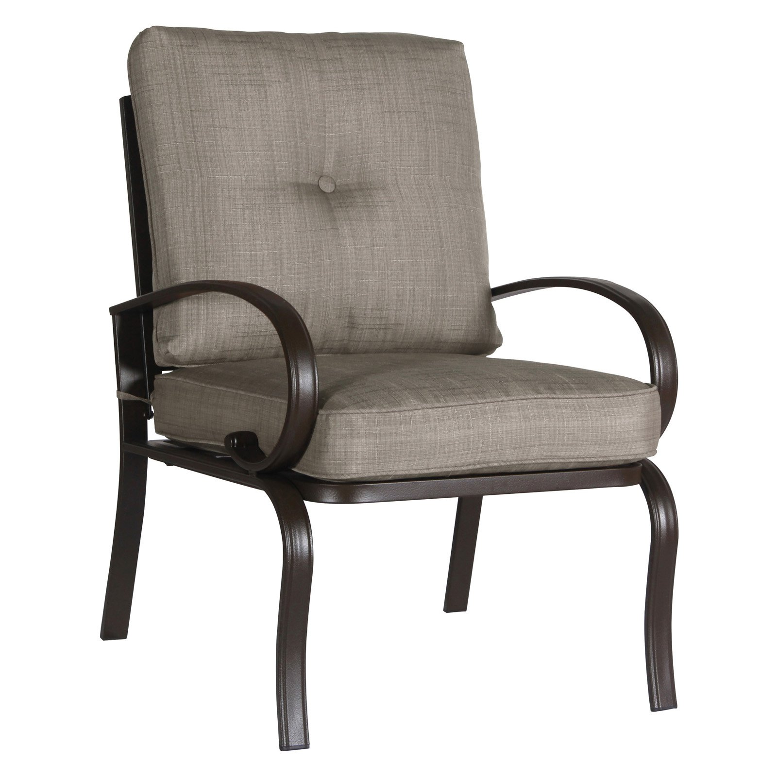 Cloud Mountain Wrought Iron Patio Club Dining Chair Set Of 2