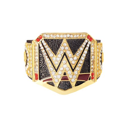 Official WWE Authentic  Championship Finger Ring Black/Gold/Red