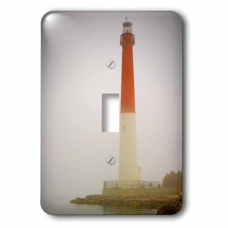3dRose Photograph of Barnegat Lighthouse in the Jersey Shore on a fogg