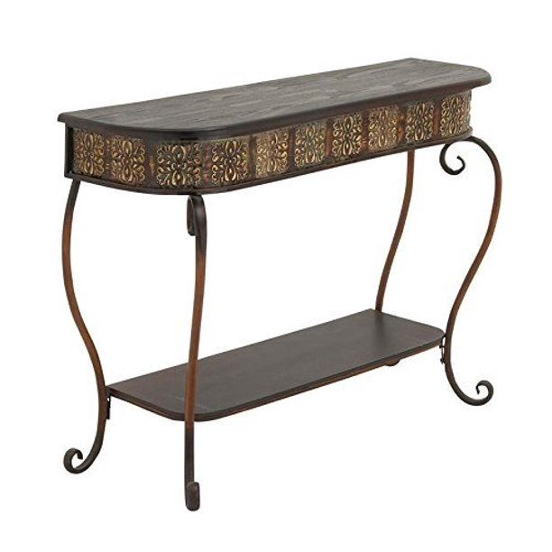 Deco 79 74362 Metal Wood Console Table 32 X 43 Walmart Com Walmart Com