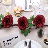 BalsaCircle 6 feet Garland with Silk Rose Flowers and Leaves Wedding Party Home Event Bouquets Arrangements Discounted Centerpieces