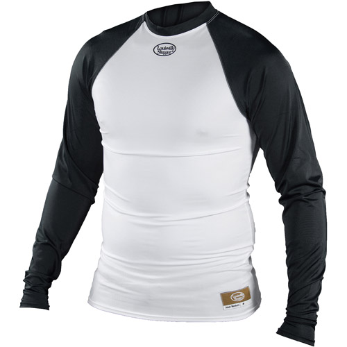 Louisville Slugger Youth Slugger Compression-Fit Long-Sleeve Shirt, White/Black