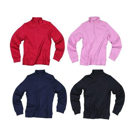 Reebok Women's Active 1/4 Zip Long Sleeve Top, Color Options