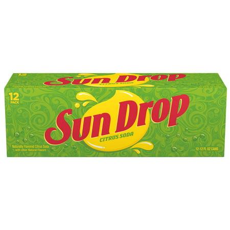 Sun Drop Naturally flavored Citrus Soda, 12 Fl. Oz., 12 Count