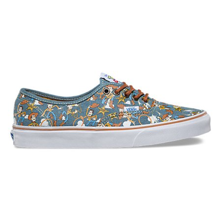 Vans Authentic Disney-Pixar Toy Story Sheriff Woody Women's Skate Shoes Size - Vans Shoes Size Chart