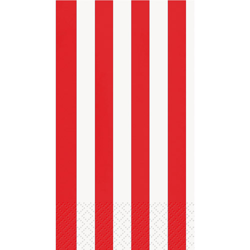 Red Striped Guest Napkins, 16pk