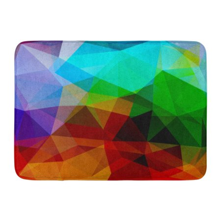 GODPOK Block Abstract Geometric Shapes Colorful Mosaic Pattern 10 Red Green Purple Blue Colors Autumn Copy Rug Doormat Bath Mat 23.6x15.7 inch