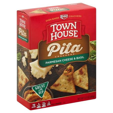 Keebler Town House Italian Cheese & Herb Pita Crackers, 9.5 - Pita Bites