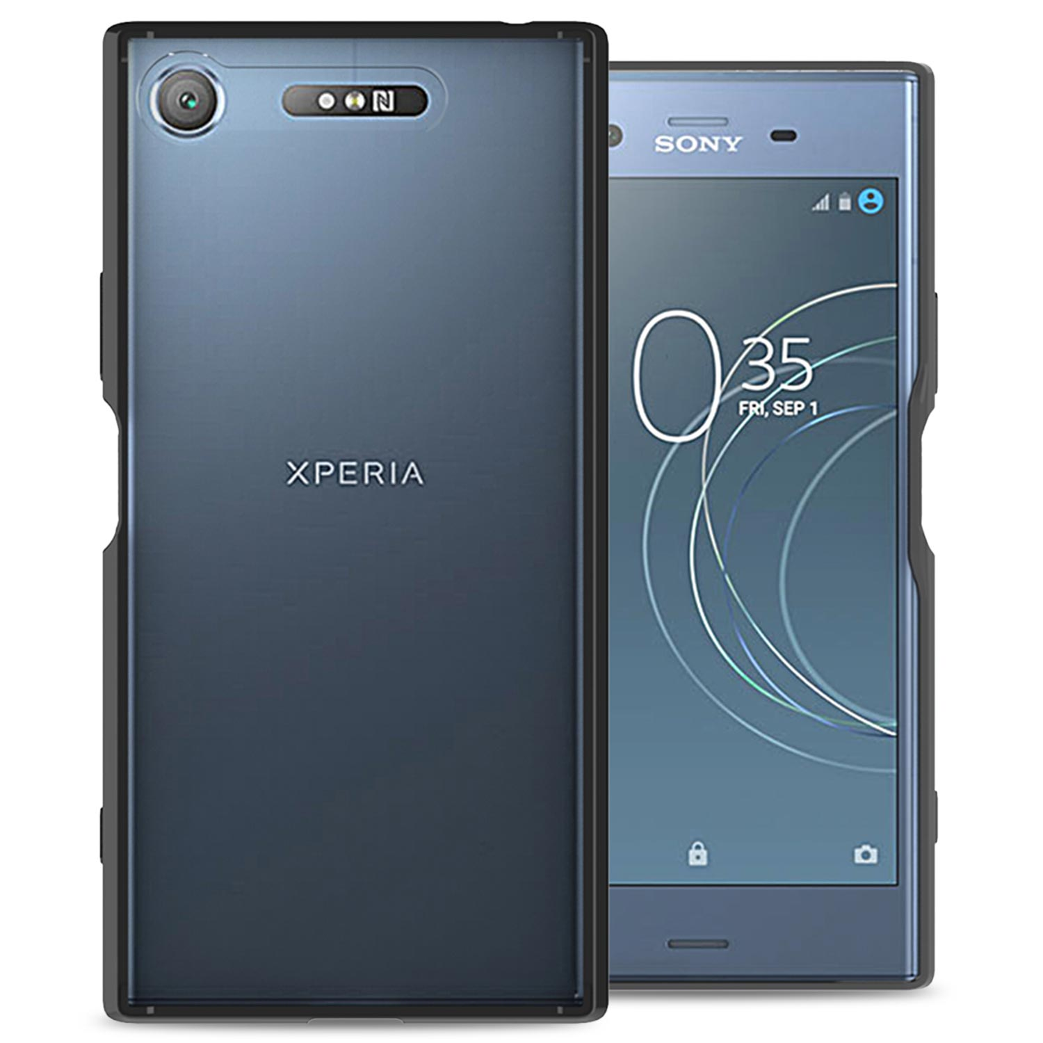 best loved aeacf 6e834 CoverON Sony Xperia XZ1 Case, ClearGuard Series Clear Hard Phone Cover