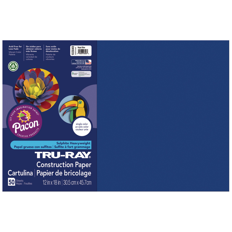 Tru-Ray, PAC103051, Heavyweight Construction Paper, 1 Pack, Purple