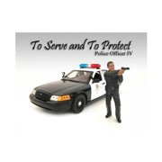 Police Officer IV Figure For 1:18 Scale Models by American Diorama