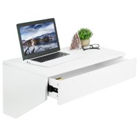 """VIVO Wall Mounted Desk with 28"""" Top Surface and Pull Out Drawer 