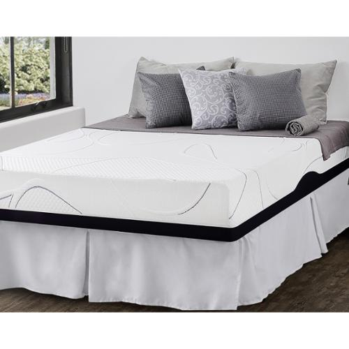 Priage  10-inch King-size Gel Memory Foam Mattress and SmartBase Foundation Set