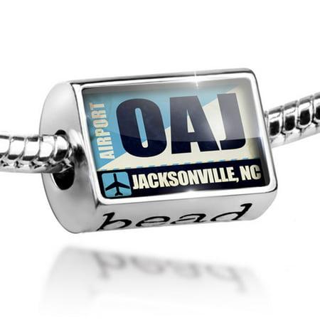 Bead Airportcode OAJ Jacksonville, NC Charm Fits All European Bracelets - Halloween Store Jacksonville Nc