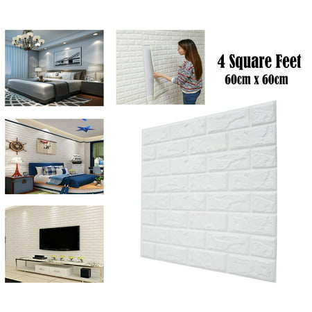 3D Brick Wallpaper Peel and Stick Self-adhesive White Faux Brick Textured Real Brick Looking Effect for Wall Decoration](Halloween Wallpaper For My Phone)