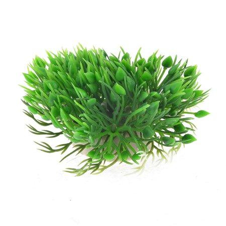 - Unique Bargains 10.5cm Width Manmade Plastic Hearts Shape Head Plant Grass Green for Aquarium