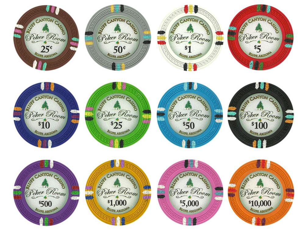 Bluff Canyon 13.5 Gram Poker Chip Sample Pack 12 Chips by BryBelly