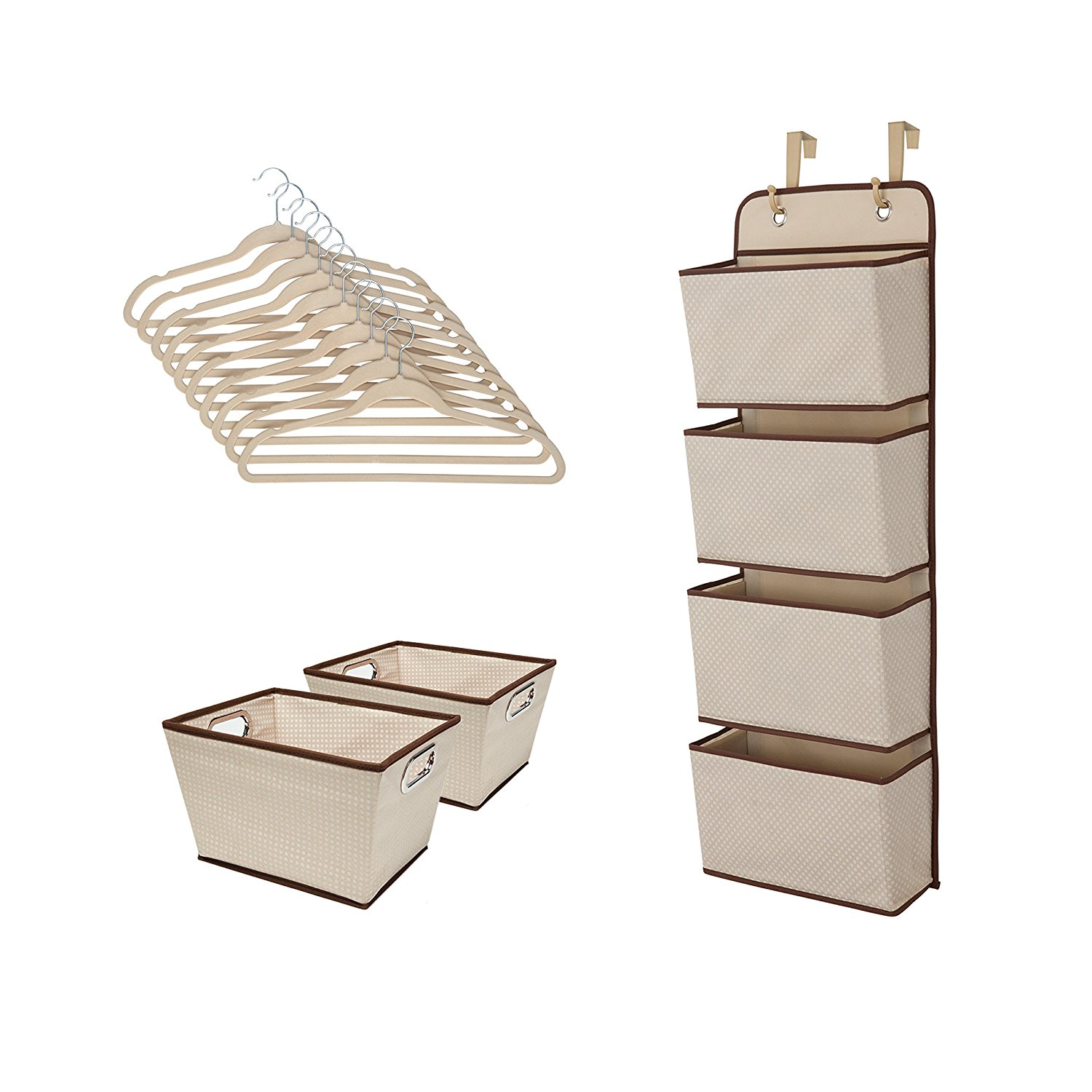 Beige Delta Children Complete Nursery Organization 13-Piece Set