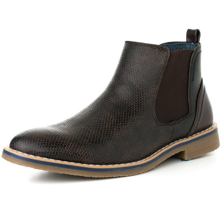 Beautiful Leather Ankle Boot (alpine swiss mens nash chelsea boots snakeskin ankle boot genuine leather)